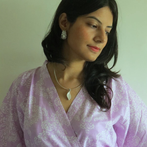 Lilac Damask Robes for bridesmaids | Getting Ready Bridal Robes