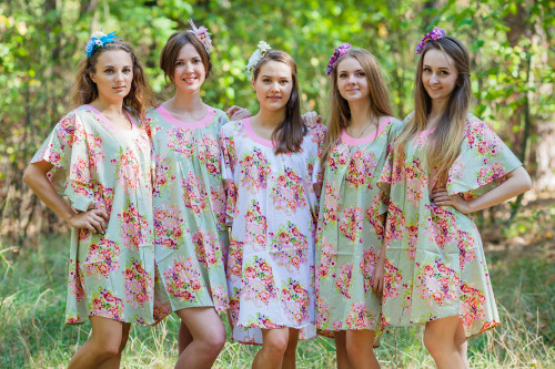 Summer Celebration Style Kaftans for bridesmaids to get ready in