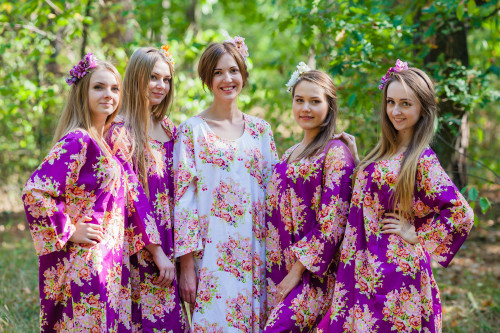 The Unwind Style Kaftans for bridesmaids to get ready in