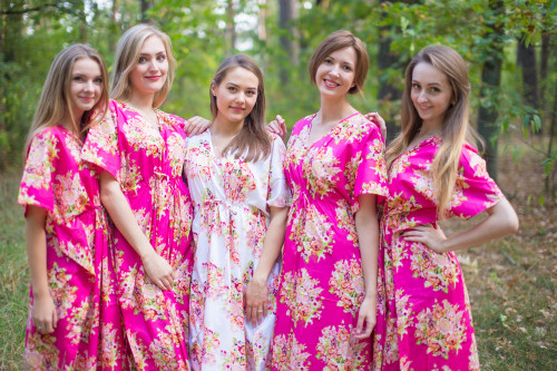 Timeless Style Kaftans for bridesmaids to get ready in