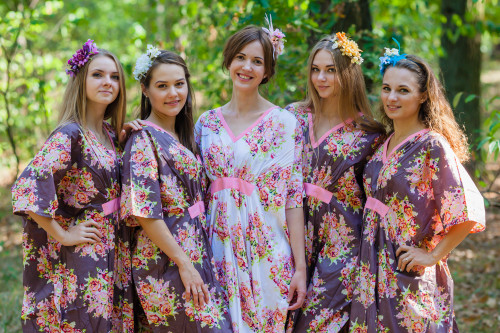 Unfurl Style Kaftans for bridesmaids to get ready in