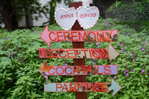 Colorful Floral Wedding Signs