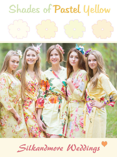 Assorted Light Yellows | SilkandMore Robes