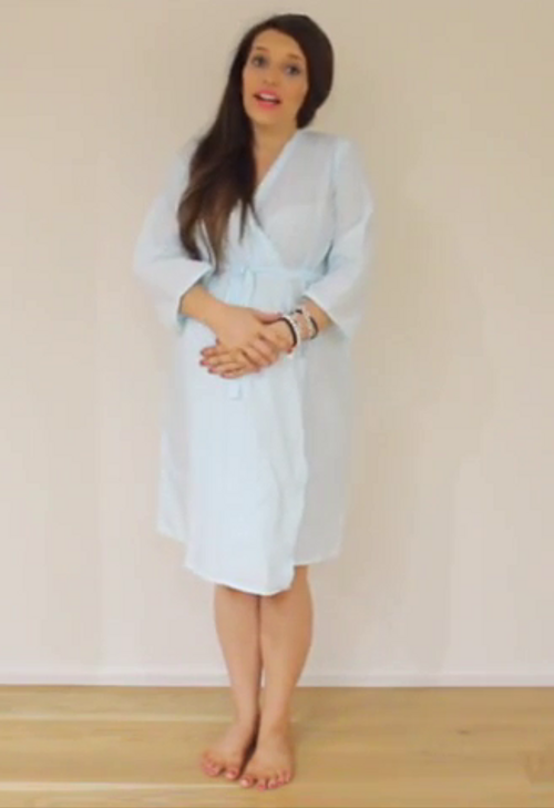 Plain and Simple Maternity Knee Length Robe