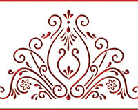 Easy to use stencil on buttercream and fondant cakes.  Can also be used on royal iced cookies once they are dry.