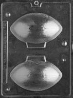 2 Piece mold used to create a chocolate football.