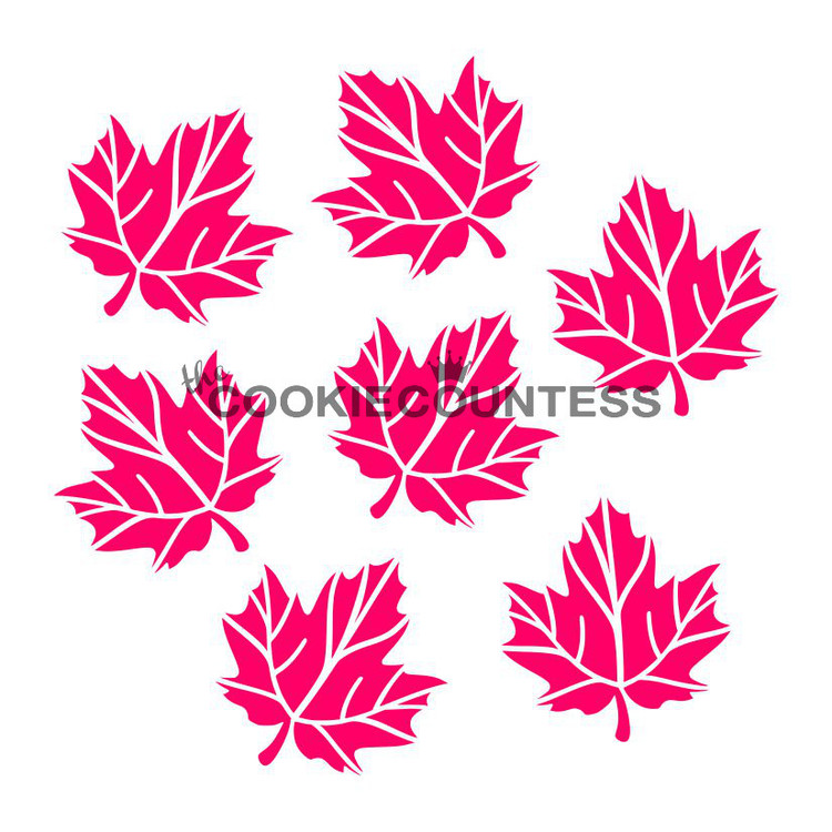 """Overall stencil size is approximately 5.5"""" x 5.5"""". PINK sections in image are the open sections. Stencils are 5mil Food Grade plastic, washable and reusable."""
