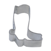 Tinplated steel cookie cutter.  Hand wash & dry thoroughly before storing.  Great for cutting out fondant and magic chocolate pieces.