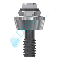 Straight Multiunit Abutment 2mm Collar Height 4.1 (RP) - 40.017/2 3i Osseotite® Compatible