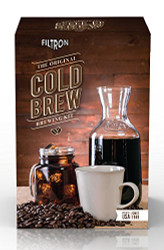 Cold Brew your own concentrate, made easy with Filtron for hot or iced coffee. Filtron Cold Brew System in a box.)