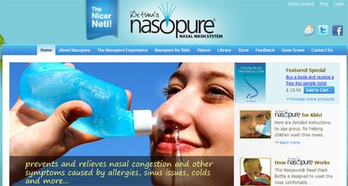 Nasopure for nasal irrigation, the nicer Neti