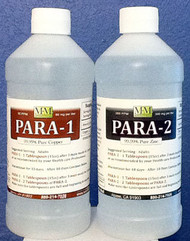 Para Combo Kit includes one 16 ounce Para-1 and one 16 ounce Para-2 bottle.
