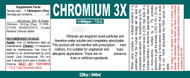 Chromium is also available in 16, 32 or 128 oz sizes.