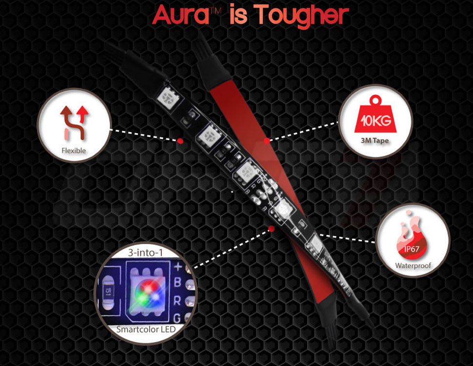 aura motorcycle glow kit features
