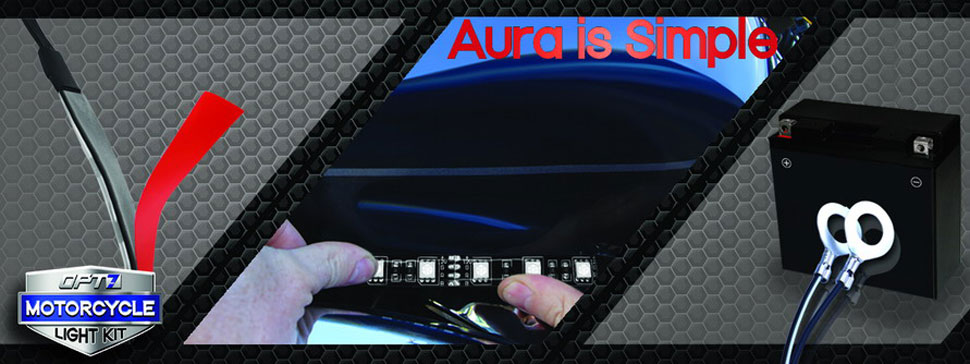 aura motorcycle glow kit install