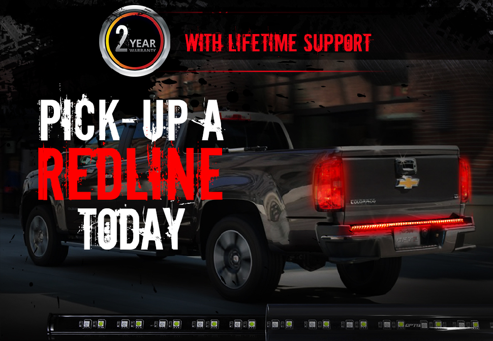 Redline led tailgate brake light bar with reverse opt7 truck tailgate led light bar aloadofball Choice Image