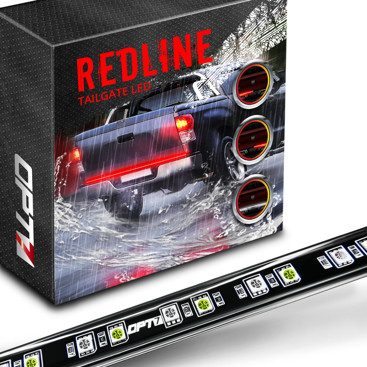 Redline Led Tailgate Brake Light Bar With Reverse Opt7 Hid Wiring Schematic