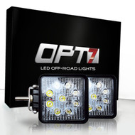 27w Square LED Auxiliary Off-Road Lights