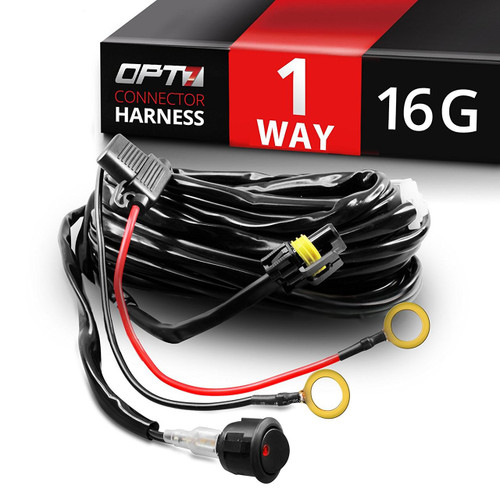 hd one led light bar wiring harness off road relay switch 22 amp rh opt 7 com