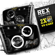 2009 2010 2011 2012 2013 2014 2015 2016 Dodge Ram 1500-3500 Projector Headlight Assembly Black