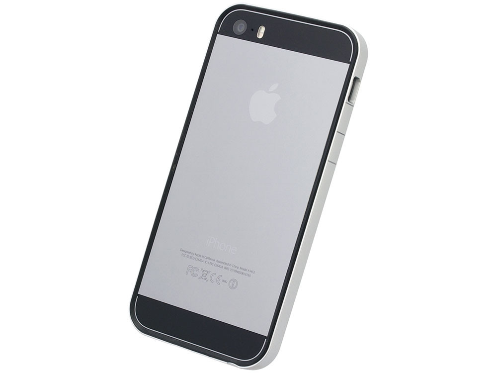 flat bumper silver black for iphone se 5s 5 power support. Black Bedroom Furniture Sets. Home Design Ideas