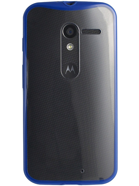 Grip for Moto X, back, blue