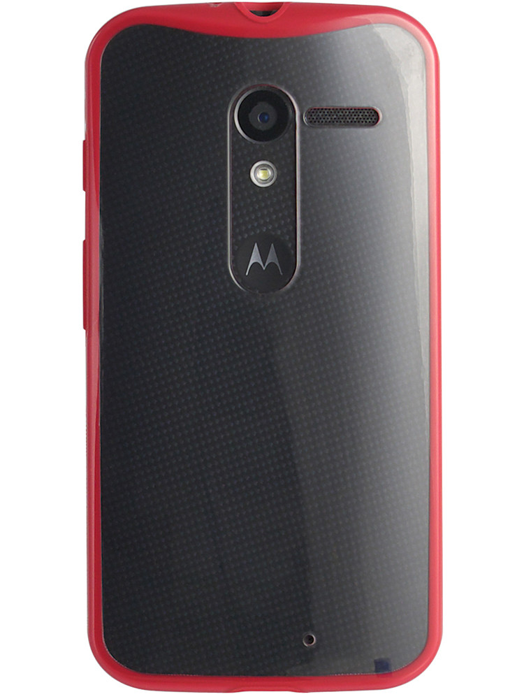 Grip for Moto X, back, red