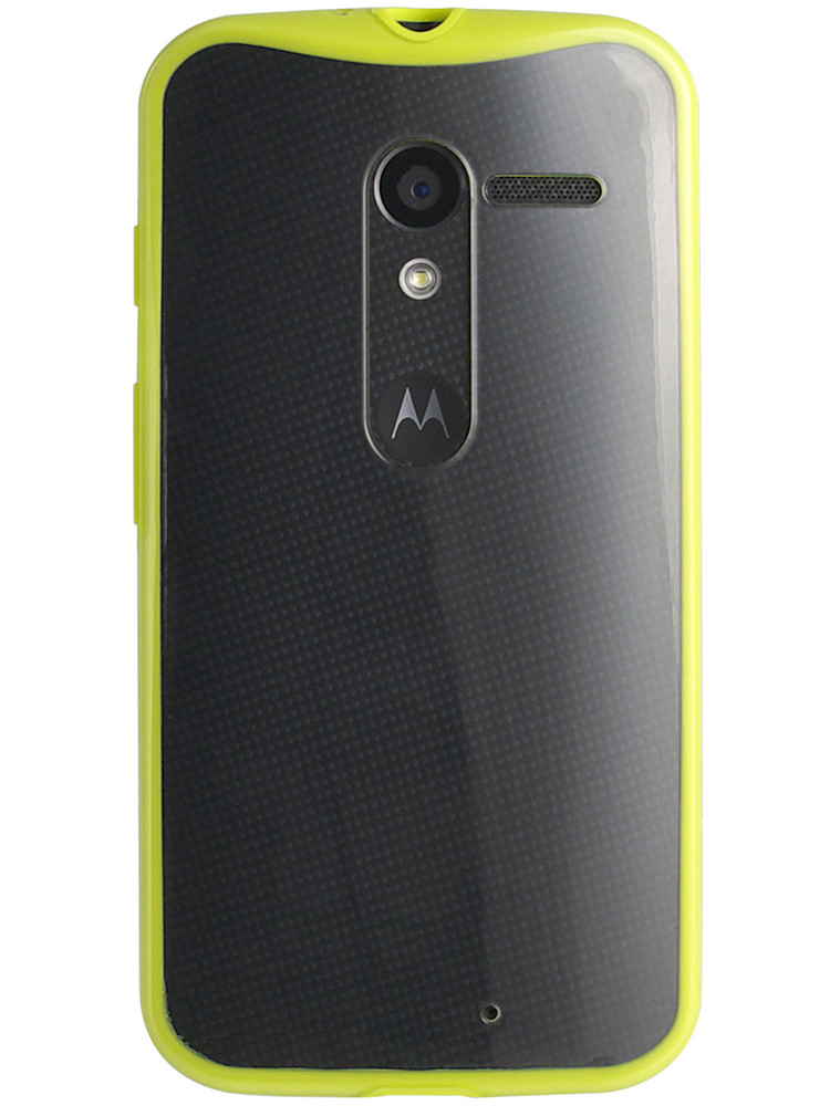 Grip for Moto X, back, yellow