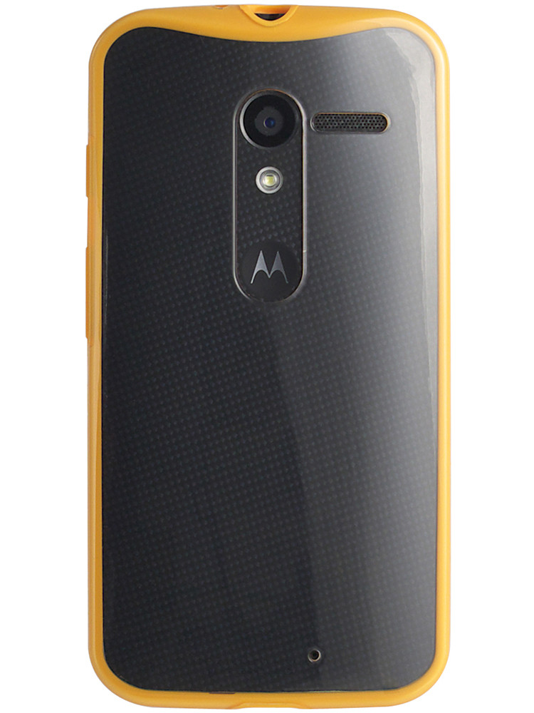 Grip for Moto X, back, orange