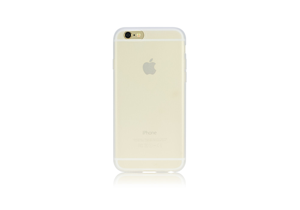 Silicone Jacket on a Gold iPhone 6 back
