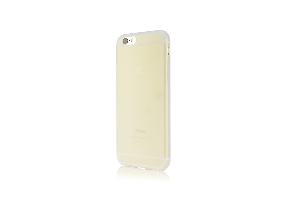 Silicone Jacket on a Gold iPhone 6 side