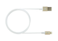 Gold USB Lightening Cable 1m