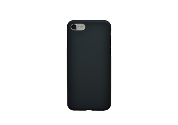Air Jacket for iPhone 7 Rubber Black on  silver iPhone 7