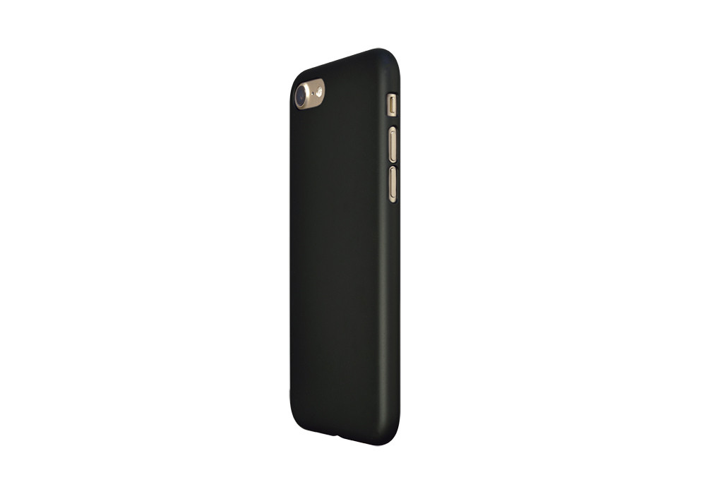 Air Jacket for iPhone 7 Rubber Black on  gold iPhone 7