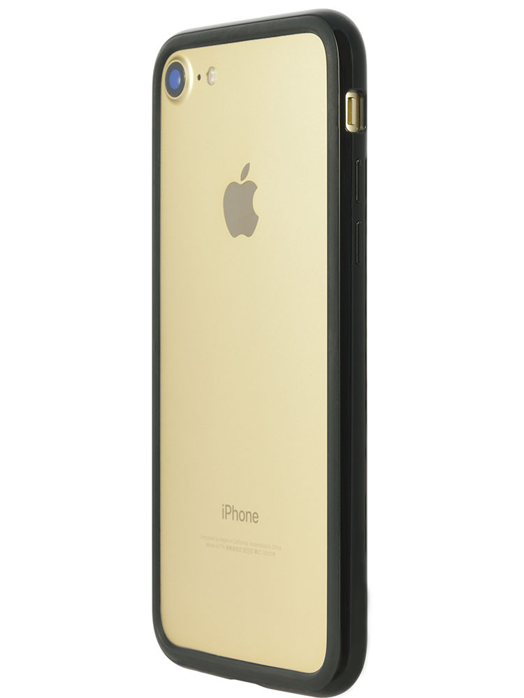 Arc bumper for iPhone 7 Piano Black on gold iPhone side