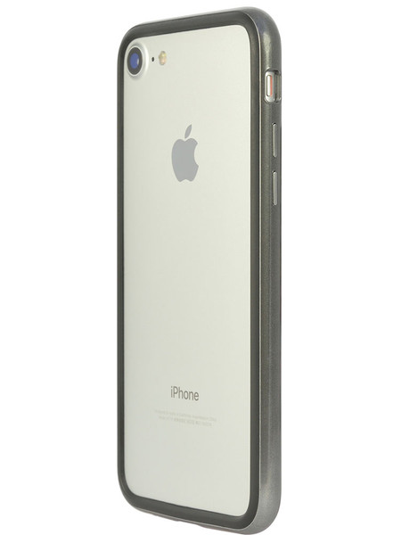 Arc bumper for iPhone 7 Chrome Black on silver iPhone side