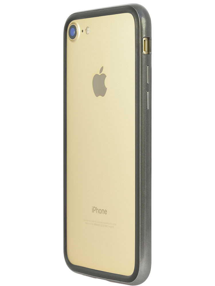 Arc bumper for iPhone 7 Chrome Black on gold iPhone side