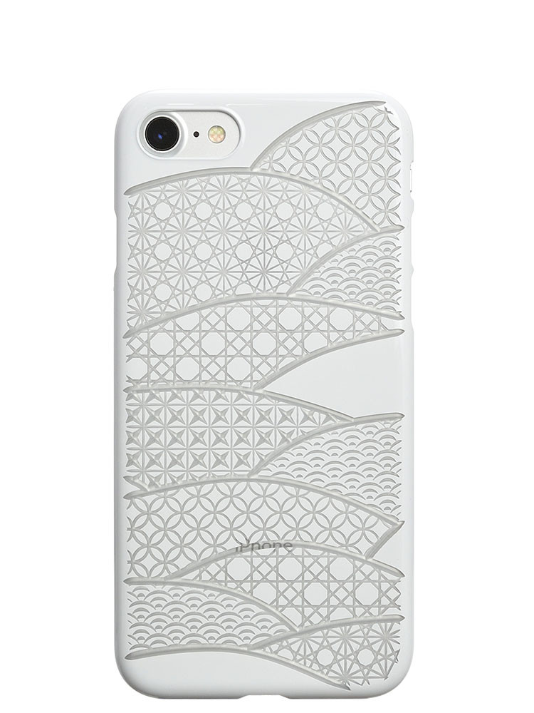 Air Jacket KIRIKO for iPhone 7 Folding Fan Pure White
