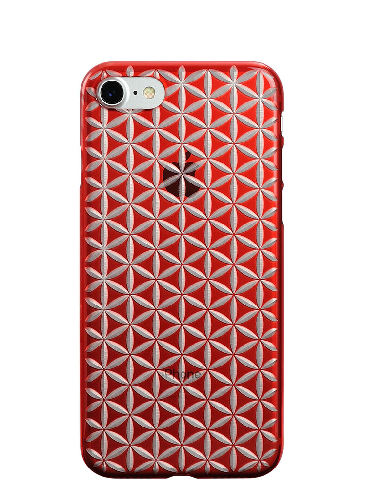 Air Jacket KIRIKO for iPhone 7 Hemp Red
