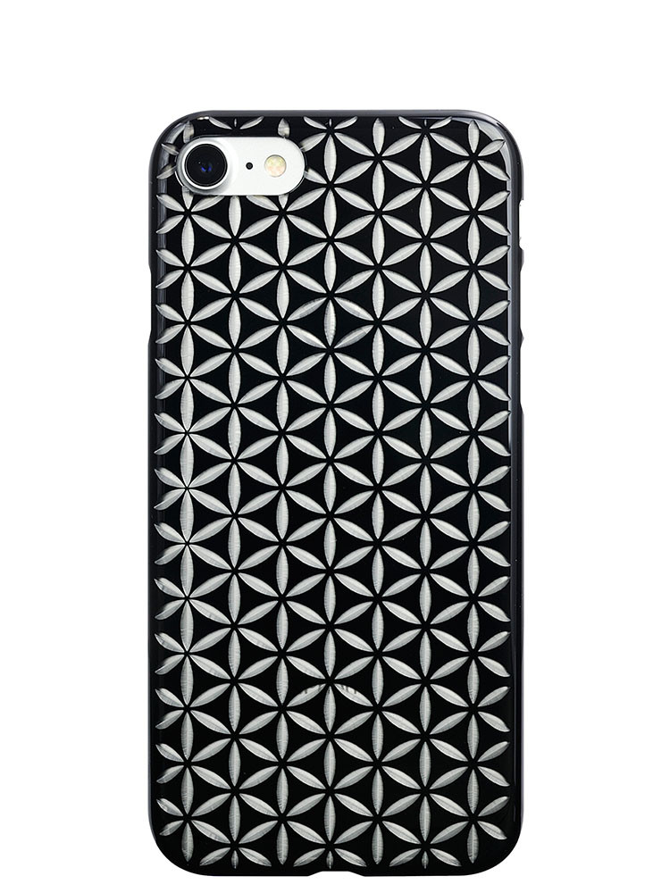 Air Jacket KIRIKO for iPhone 7 Hemp Jet Black