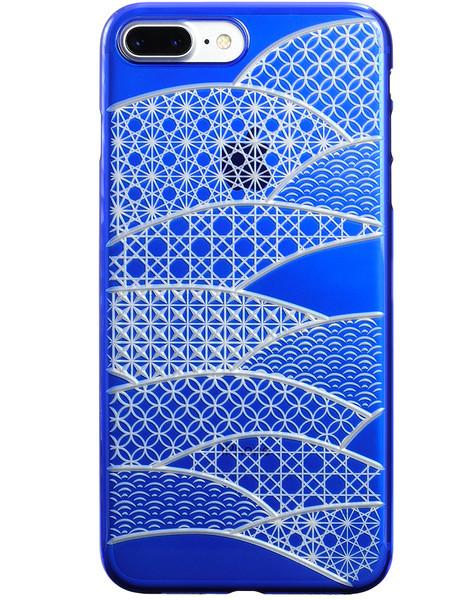 Air Jacket KIRIKO for iPhone 7 Plus Folding Fan Blue