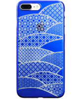 Air Jacket KIRIKO for iPhone 7 Plus Folding Fan Blue
