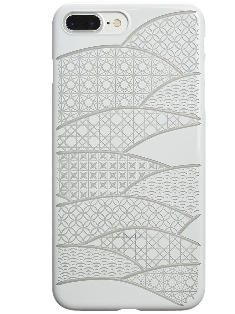 Air Jacket KIRIKO for iPhone 7 Plus Folding Fan Pure White