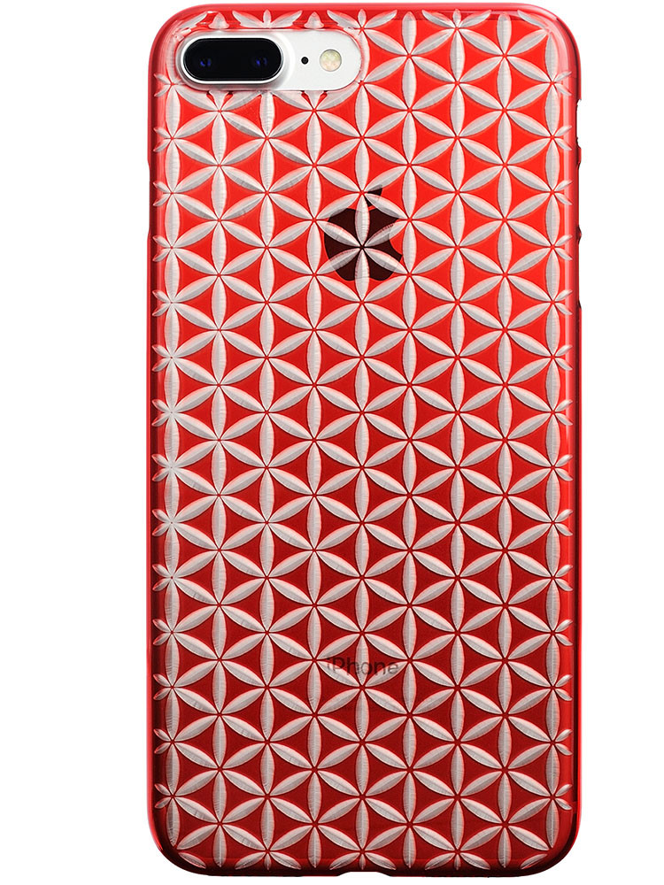 Air Jacket KIRIKO for iPhone 7 Plus Hemp Red