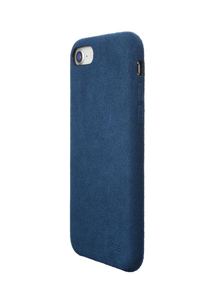 Ultrasuede Air Jacket for iPhone 8 Back Side Blue