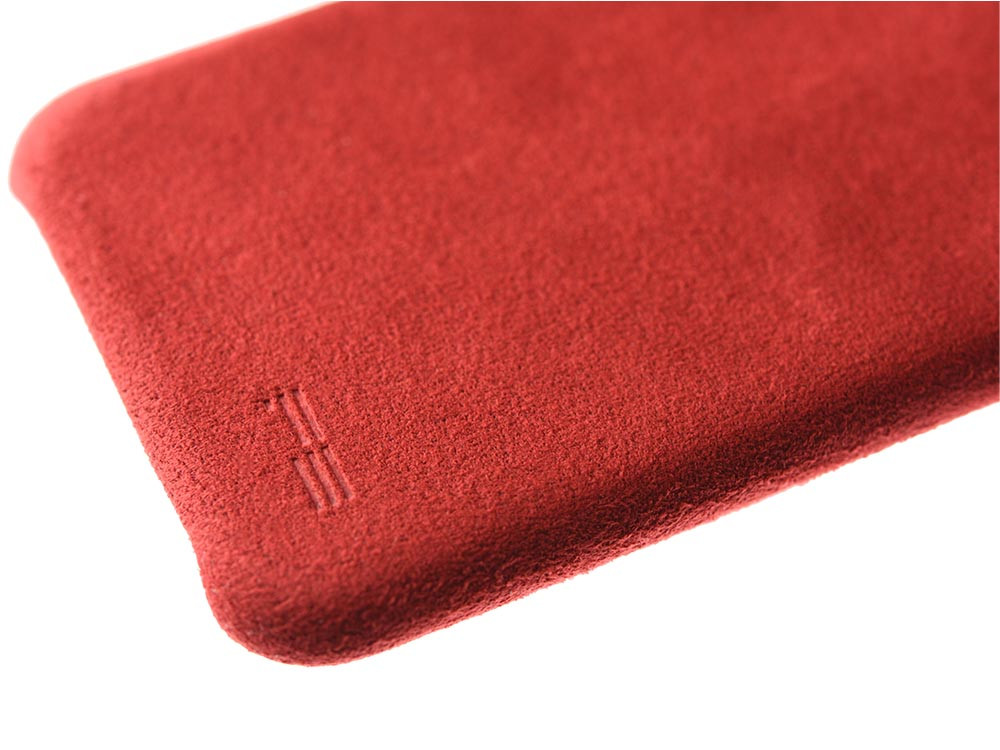 Ultrasuede Air Jacket for iPhone 8 Detail Red