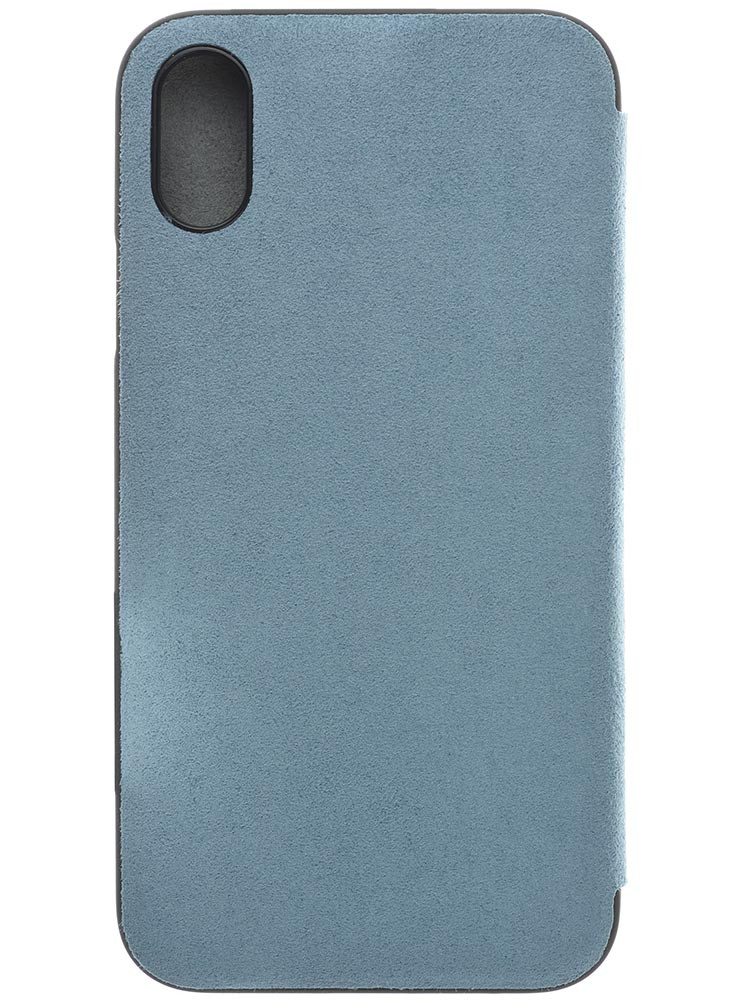 Ultrasuede Flip Case for iPhone X Back Sky