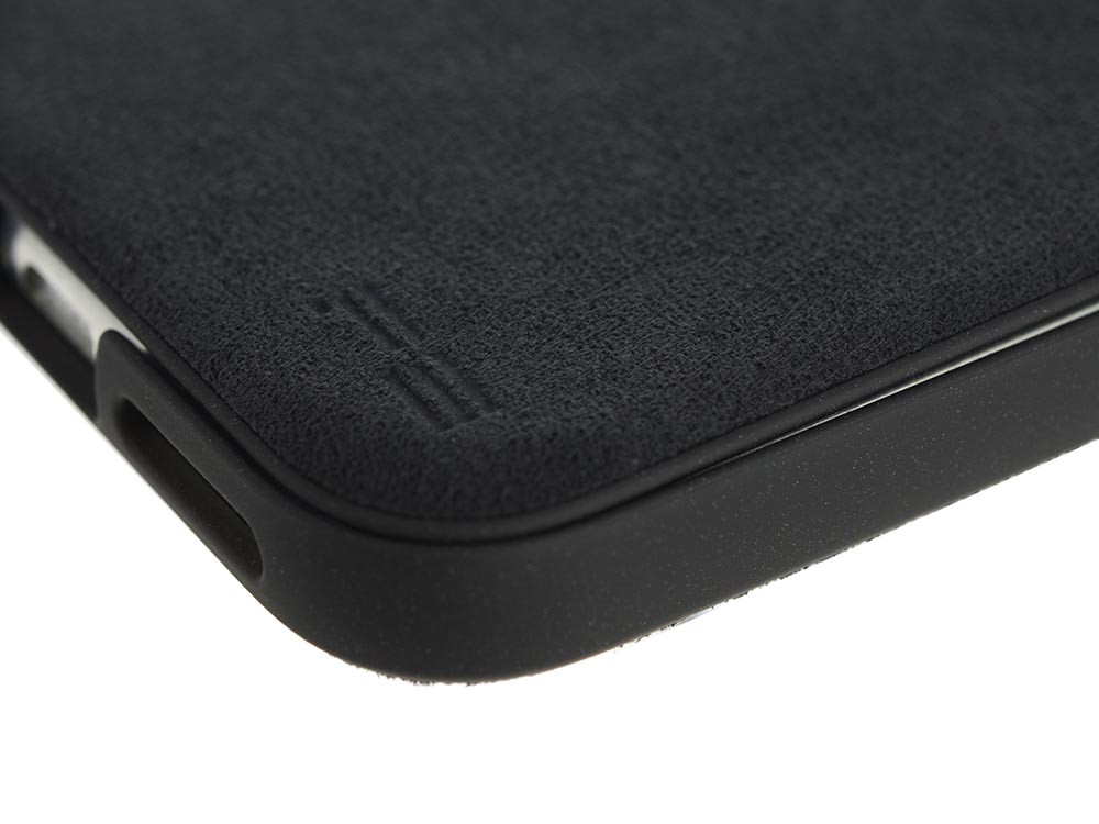 Ultrasuede Flip Case for iPhone X Detail Asphalt