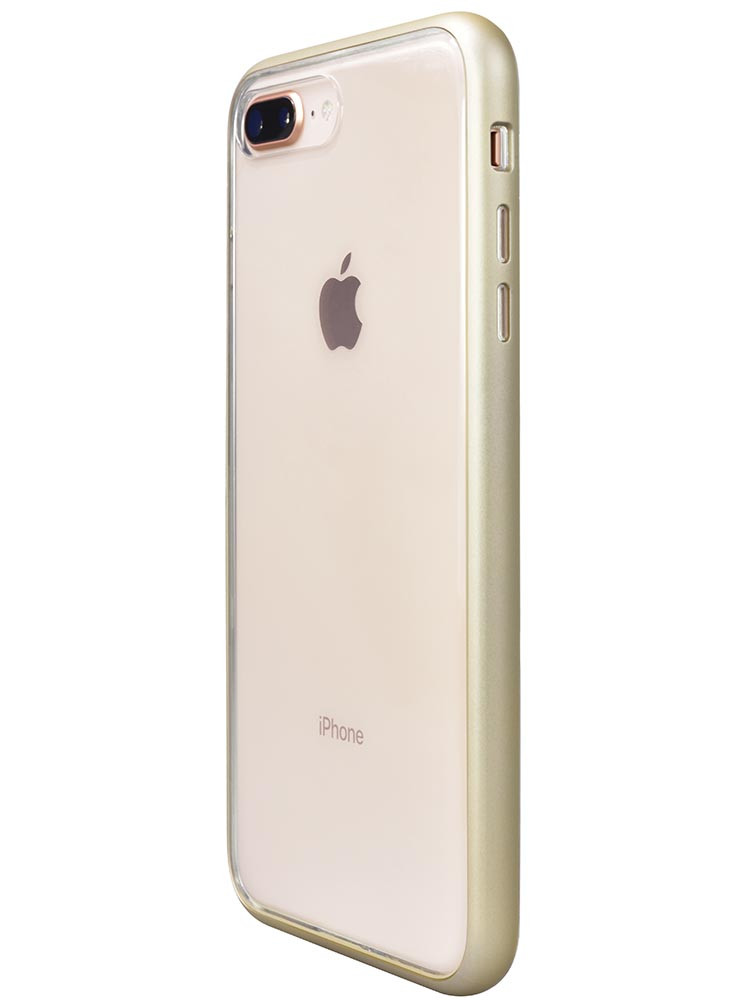 Shock Proof Air jacket for iPhone 8 Plus Side Rubber Gold