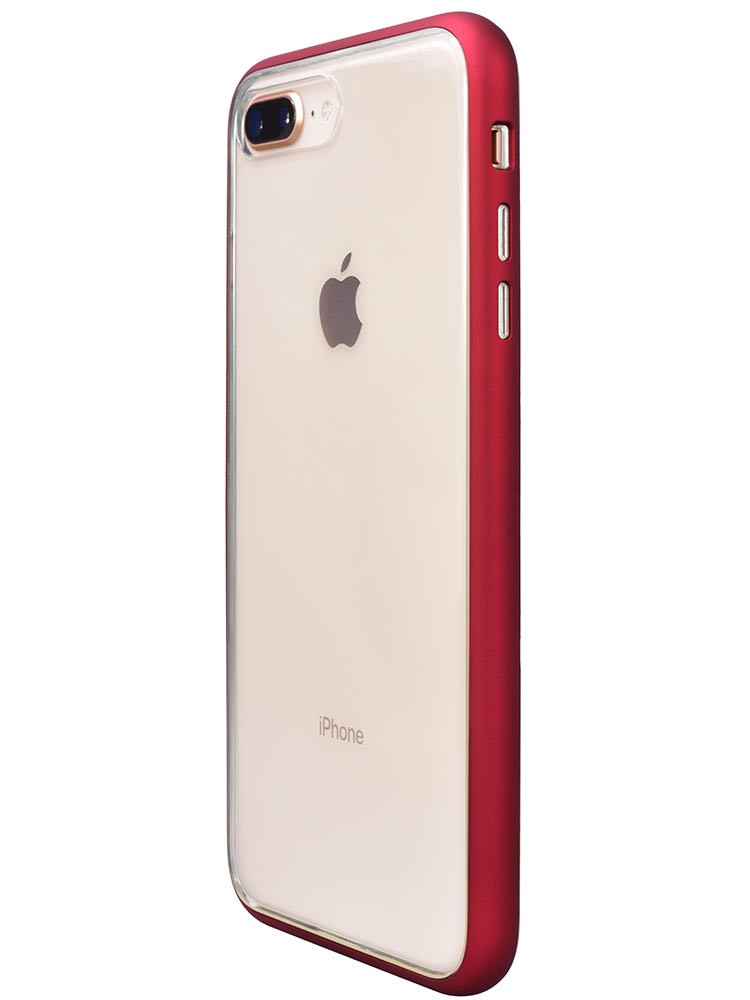 Shock Proof Air jacket for iPhone 8 Plus Side Rubber Red